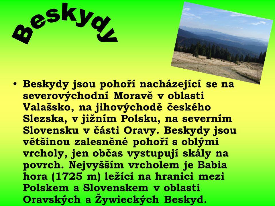 Beskydy jsou pohoří nacházející se na severovýchodní Moravě v oblasti Valašsko, na jihovýchodě českého Slezska, v jižním Polsku, na severním Slovensku