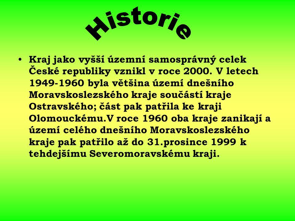 Kraj jako vyšší územní samosprávný celek České republiky vznikl v roce 2000. V letech 1949-1960 byla většina území dnešního Moravskoslezského kraje so
