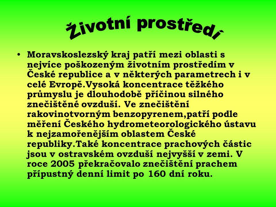 Moravskoslezský kraj patří mezi oblasti s nejvíce poškozeným životním prostředím v České republice a v některých parametrech i v celé Evropě.Vysoká ko