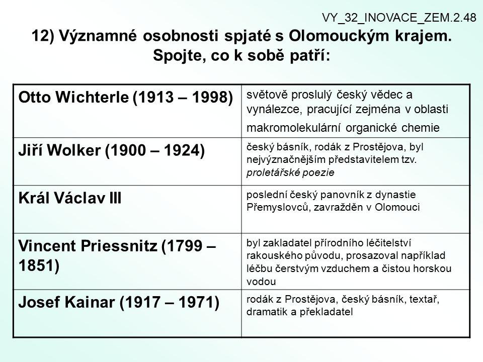 12) Významné osobnosti spjaté s Olomouckým krajem.