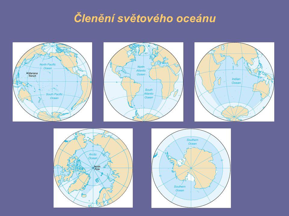 Členění světového oceánu