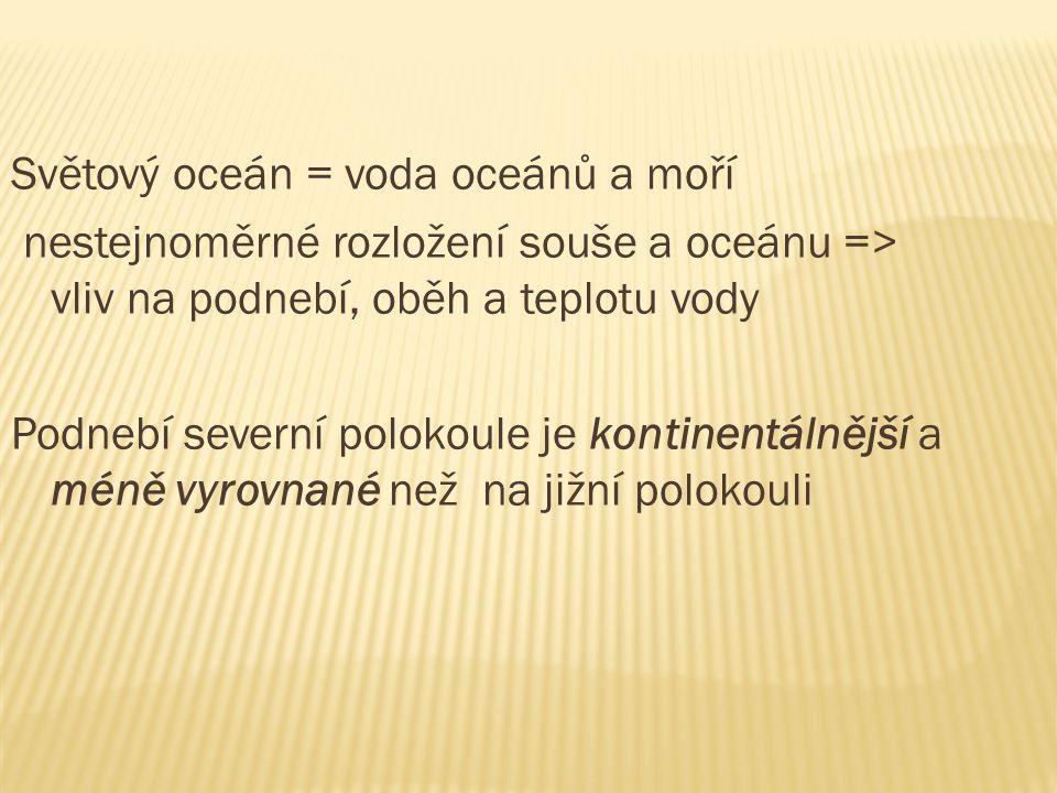 2) Mořské vlnění: způsobené větrem.