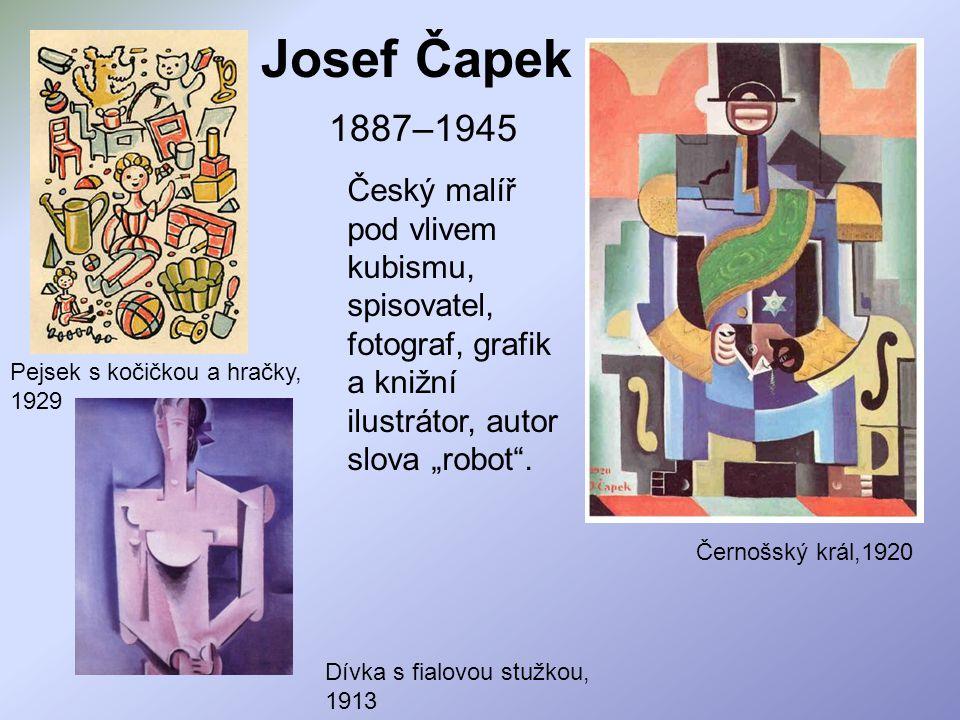 """Josef Čapek 1887–1945 Černošský král,1920 Český malíř pod vlivem kubismu, spisovatel, fotograf, grafik a knižní ilustrátor, autor slova """"robot"""". Dívka"""