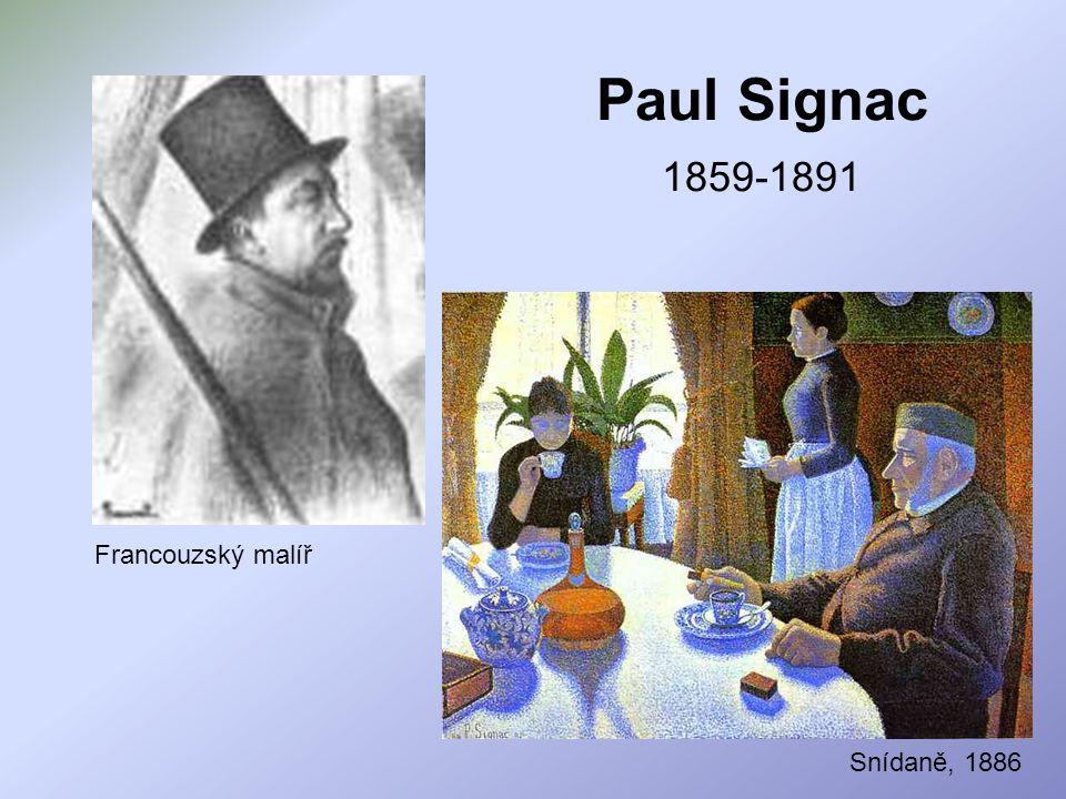 Paul Signac Žena upravující si vlasy, 1892 Pínie, 1909