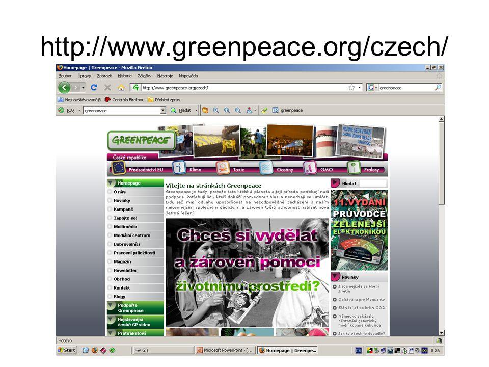http://www.greenpeace.org/czech/