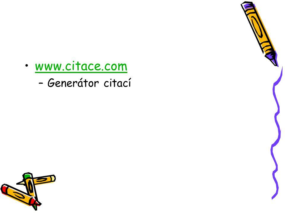 www.citace.com –Generátor citací