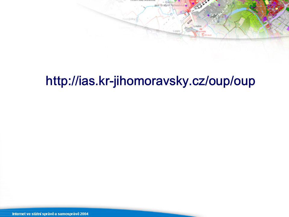 http://ias.kr-jihomoravsky.cz/oup/oup Internet ve státní správě a samosprávě 2004