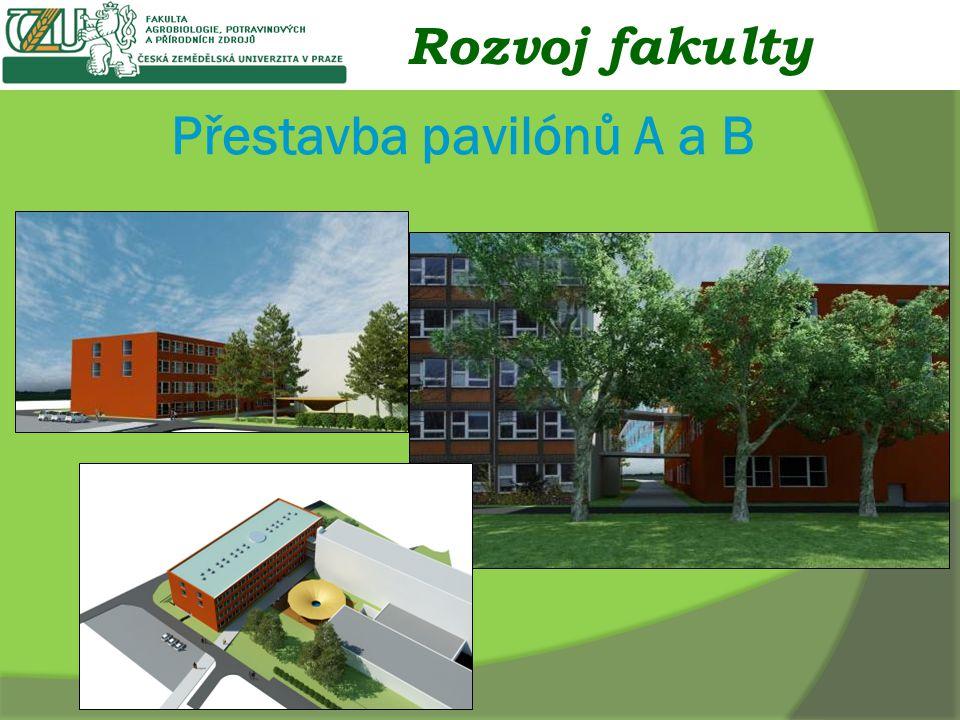 Přestavba pavilónů A a B Rozvoj fakulty