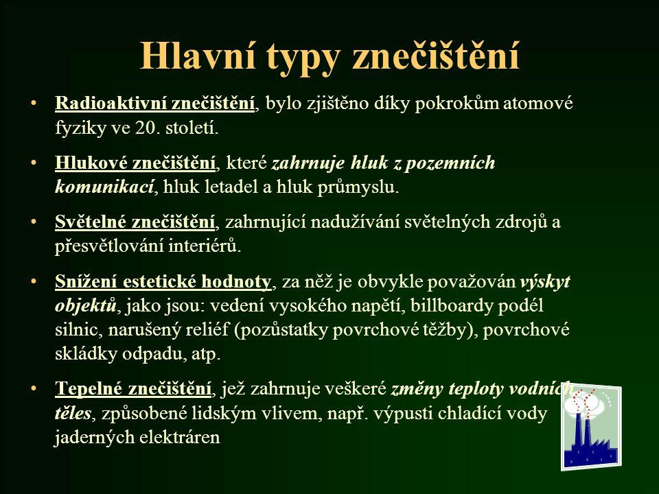 Životní prostředí v Česku Stav životního prostředí v ČR − ovzduší − voda − zdravotní stav obyvatel