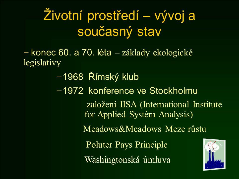 Životní prostředí v Česku Podrobnější pohled − 90.