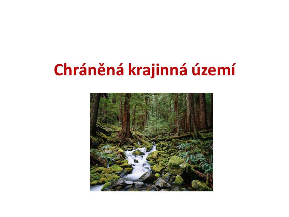 Kategorie chráněných území Národní parky (NP) Chráněné krajinné oblasti (CHKO) Národní přírodní rezervace (NPR) Přírodní rezervace(PR) Národní přírodní památky(NPP) Přírodní památky(PP)