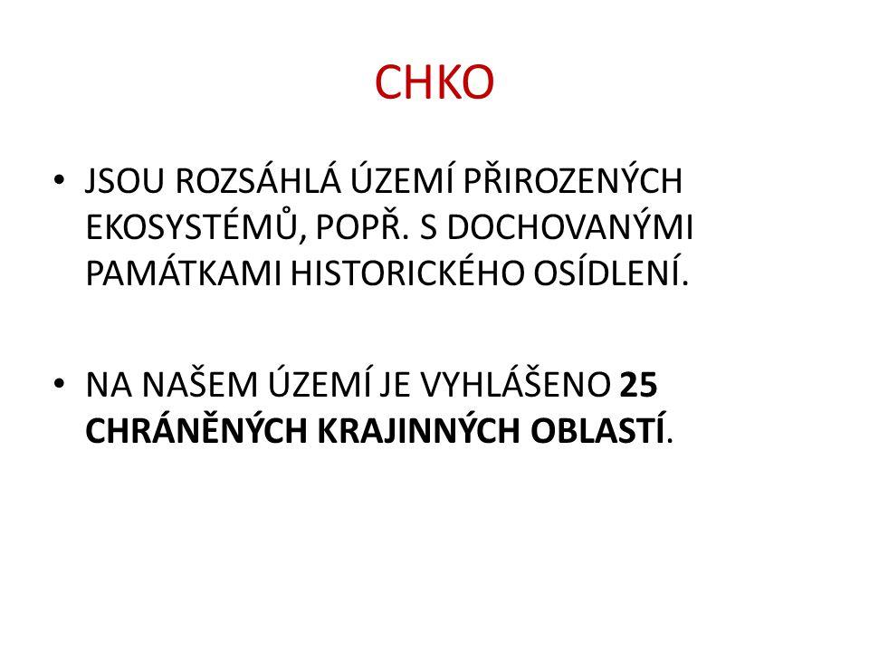 CHKO A NP V ČESKU