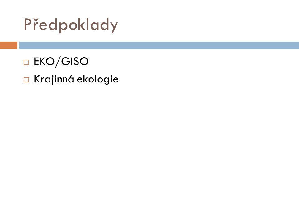 Předpoklady  EKO/GISO  Krajinná ekologie