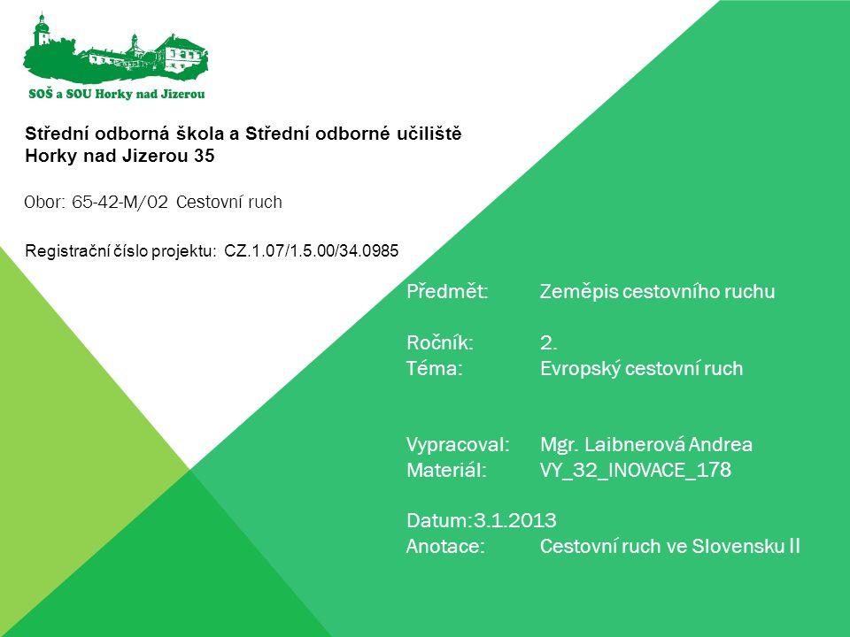 Cestovní ruch ve Slovensku