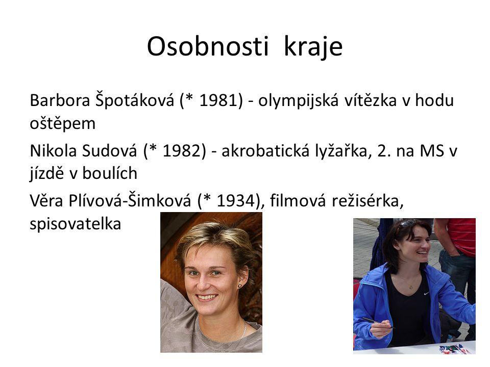 Osobnosti kraje Barbora Špotáková (* 1981) - olympijská vítězka v hodu oštěpem Nikola Sudová (* 1982) - akrobatická lyžařka, 2.