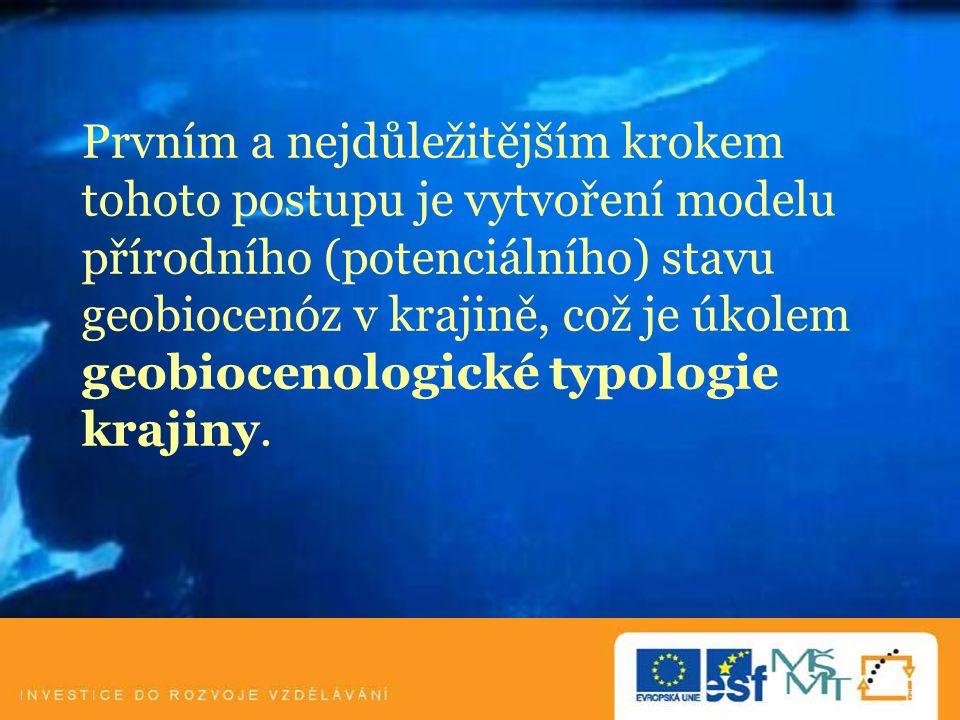 1/ Geobiocenologická typologie 1/ Co to je.