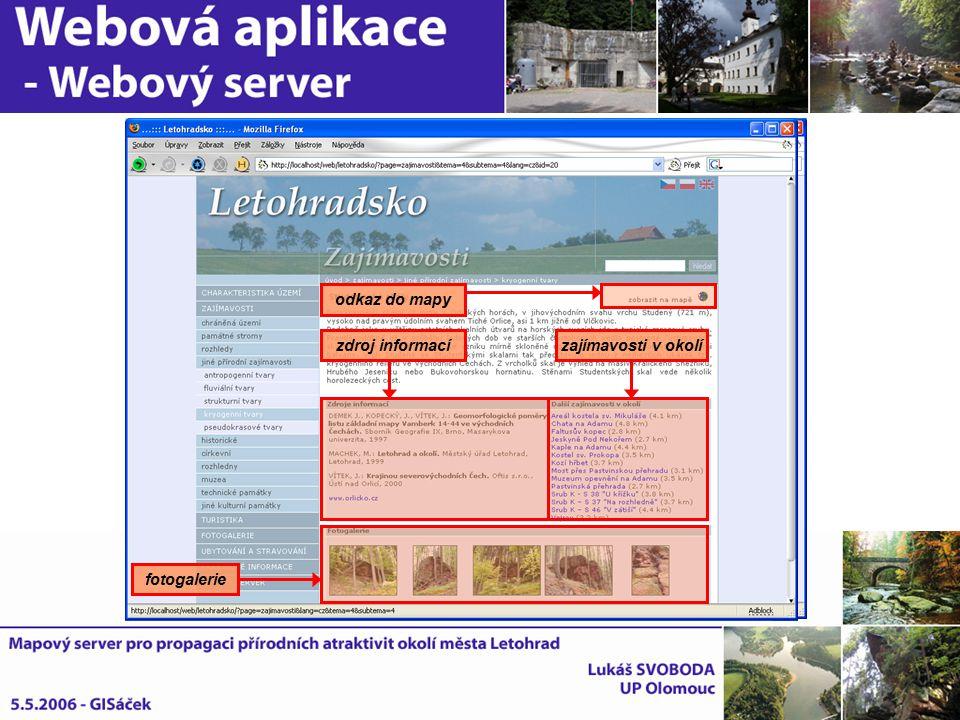 fotogalerie zdroj informacízajímavosti v okolí odkaz do mapy