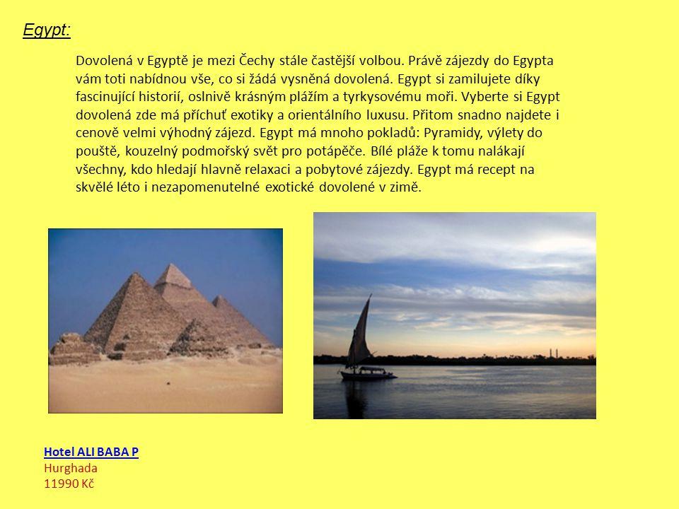 Egypt: Dovolená v Egyptě je mezi Čechy stále častější volbou.