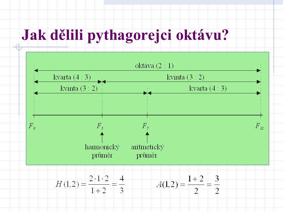Jak dělili pythagorejci oktávu?
