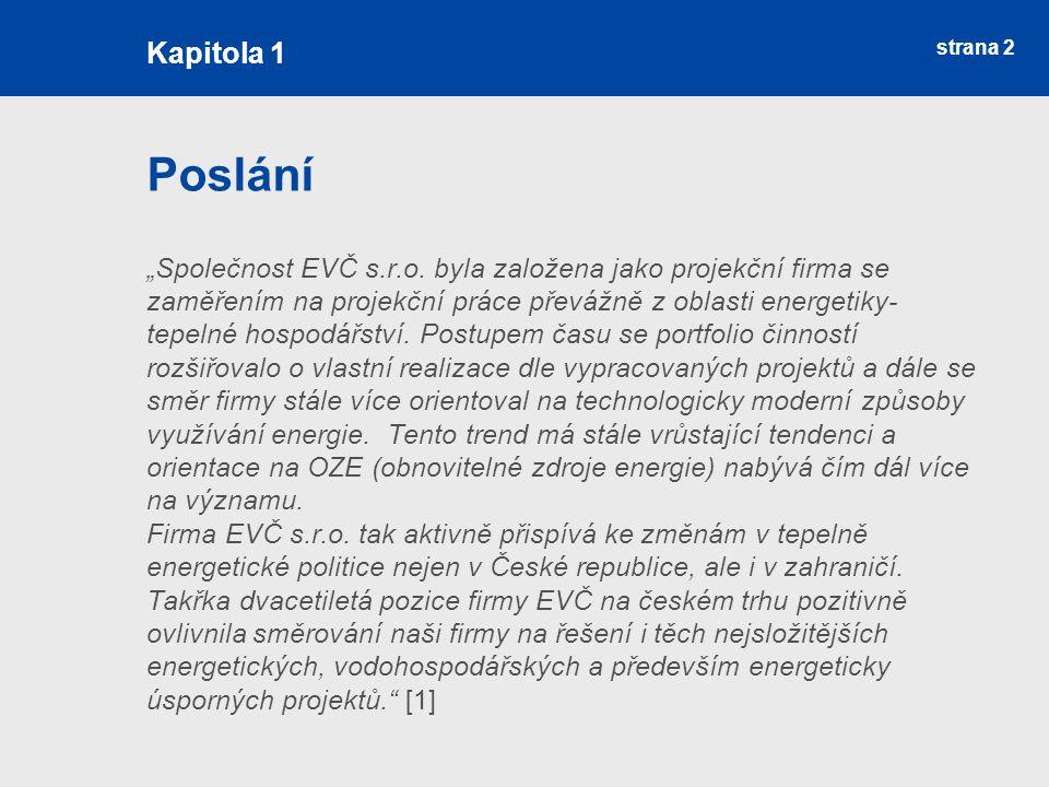 """strana 2 Poslání """"Společnost EVČ s.r.o."""
