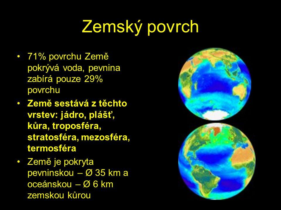 Země je třetí planetou Sluneční soustavy Je to planeta, na které žijeme a také jediné známé vesmírné těleso, na kterém existuje život Její stáří se od
