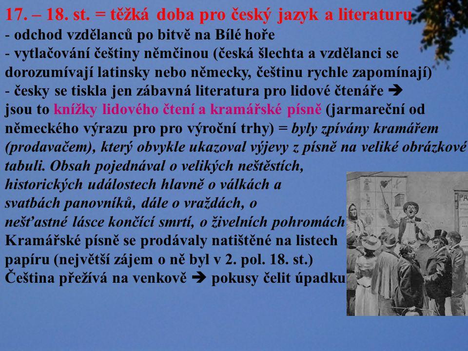 www.mu-st.cz/.../podskali/celakovsky_2.jpg Slovanské národní písně Mudrosloví národu slovanského ve příslovích - sebraná slovanská přísloví a pořekadla Ohlas písní českých - převahu mají lyrické písně balada Toman a lesní panna (tragický příběh zklamaného milence, kterého zvábí lesní panna) Ohlas písní ruských - básně připomínají ruské zpěvy, tzv.