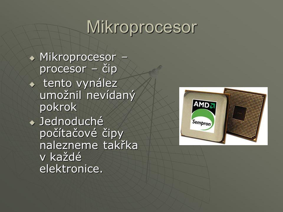 Jak funguje  jde o to, že procesor čte předem dané instrukce na základě kterých zpracovává data  To se děje na celkem jednoduchém základě - elektronickém obvodu