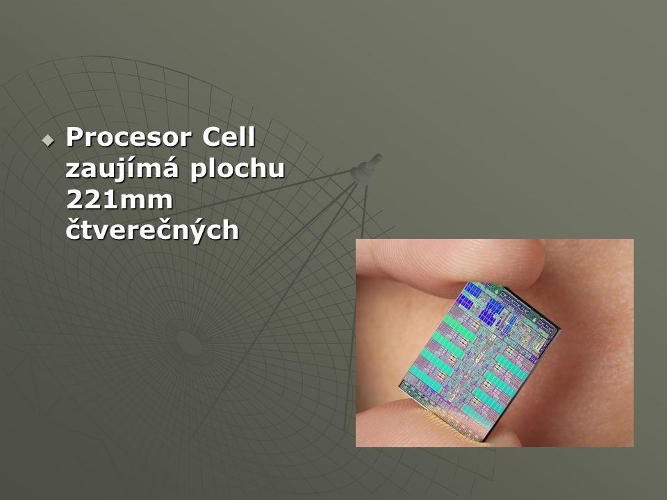  Procesor Cell zaujímá plochu 221mm čtverečných