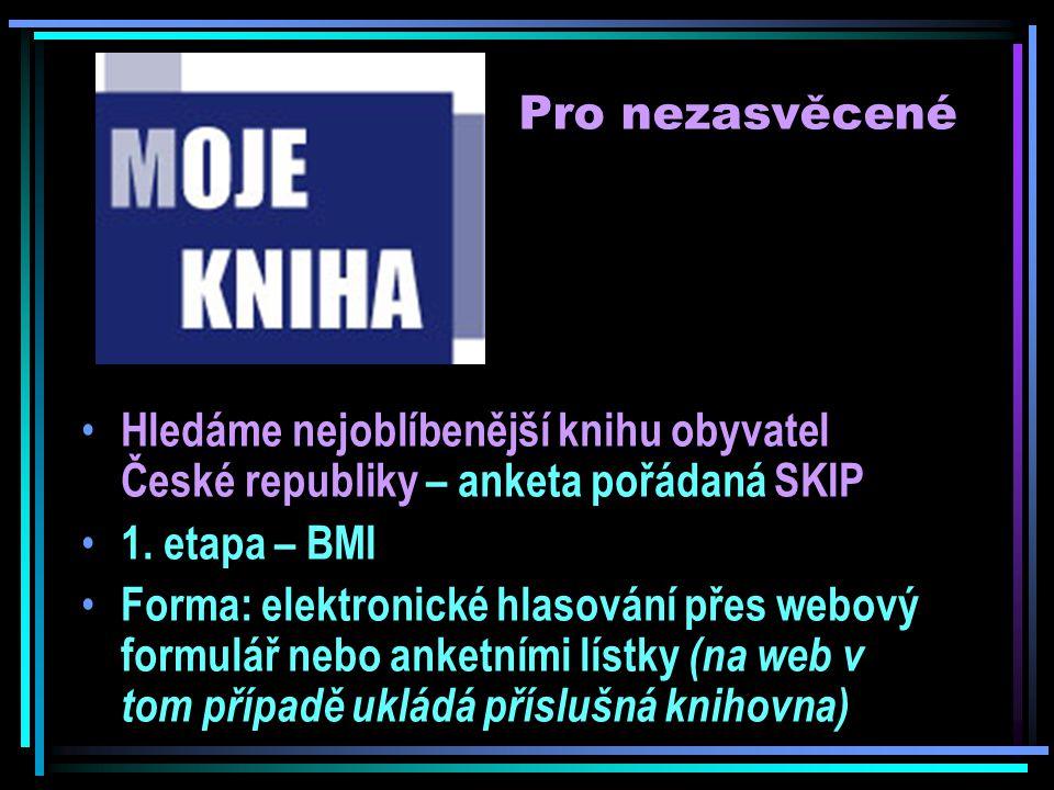 Pro nezasvěcené Hledáme nejoblíbenější knihu obyvatel České republiky – anketa pořádaná SKIP 1.