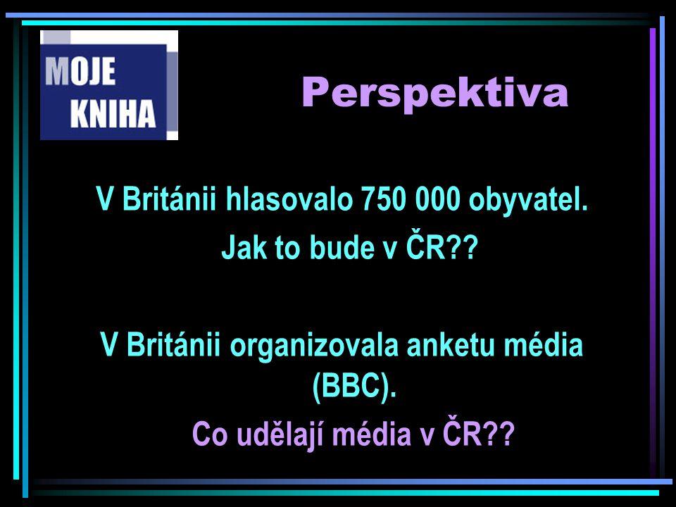 Perspektiva V Británii hlasovalo 750 000 obyvatel. Jak to bude v ČR?? V Británii organizovala anketu média (BBC). Co udělají média v ČR??