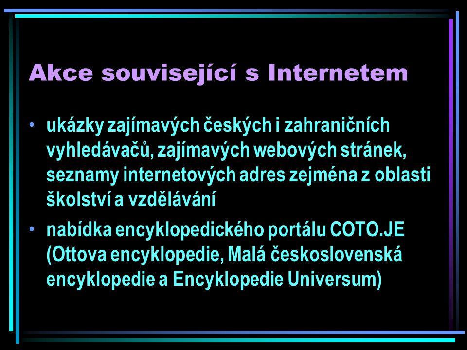 Akce související s Internetem volný přístup do českých informačních zdrojů - databáze TAMTAM firmy Anopress a databází České tiskové kanceláře (Biografie, Česká republika, Země světa, Evropská unie)