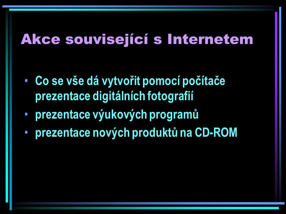 Akce související s Internetem Ptejte se knihovny - nová služba českých knihoven veřejnosti http://www.ptejteseknihovny.cz