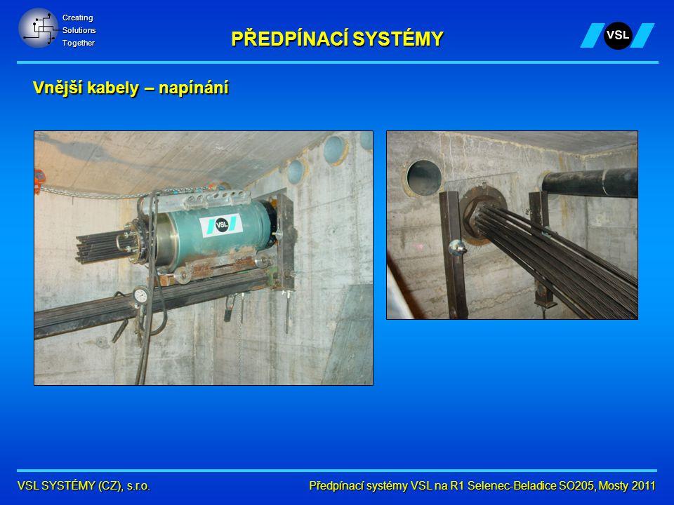 Předpínací systémy VSL na R1 Selenec-Beladice SO205, Mosty 2011 VSL SYSTÉMY (CZ), s.r.o.