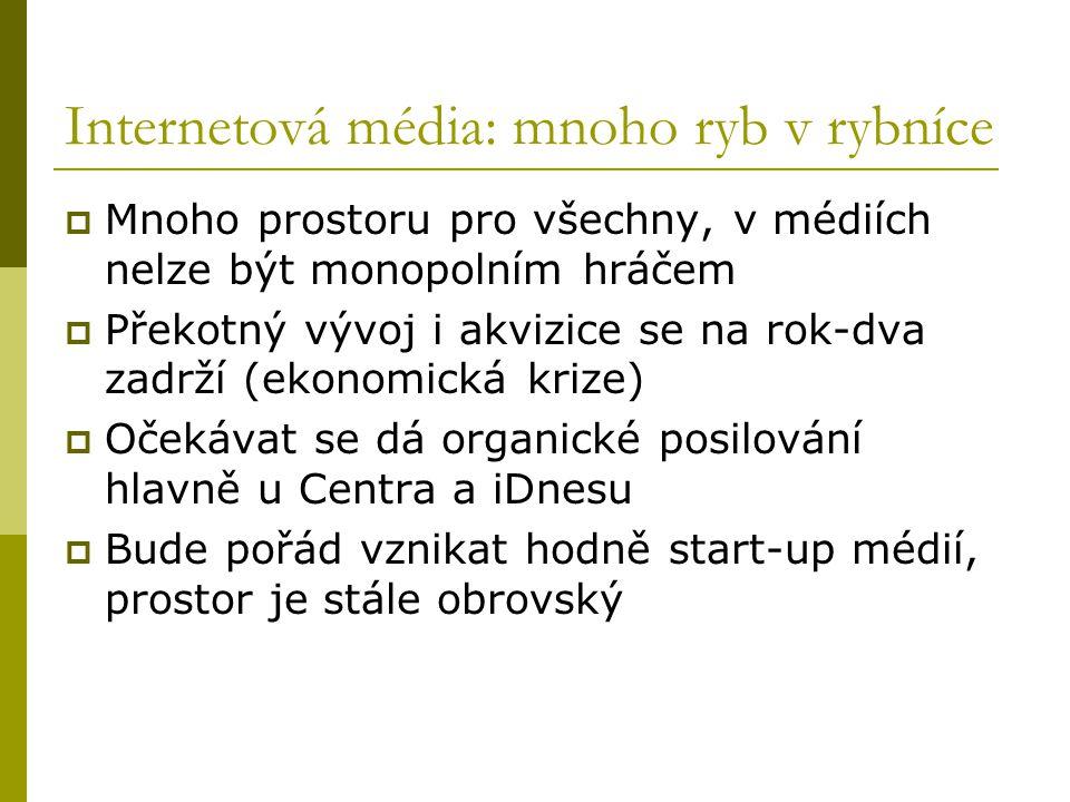 Internetové obchody: hledání přístavu i finančních zdrojů  Krutá cenová válka víceméně přiměla Kasu i Obchodni- dům.cz k prodejům  Kasa.cz prodána dvakrát.