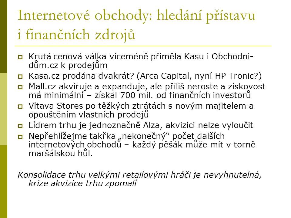 Centralway prodává, Dignity kupuje  Centralway koupil levně, prodal draho a v nejvhodnější chvíli: Jyxo/Blog.cz, Auto.cz, Invia.cz – jeden z nejúspěšnějších zahraničních investorů, bude jistě pokračovat  Dignity: nová investorská skupina, vlastnická skupina ne zcela jasná, zatím několik projektů (Tiscali, Dokina atd.)