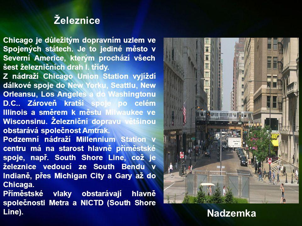 Železnice Chicago je důležitým dopravním uzlem ve Spojených státech.