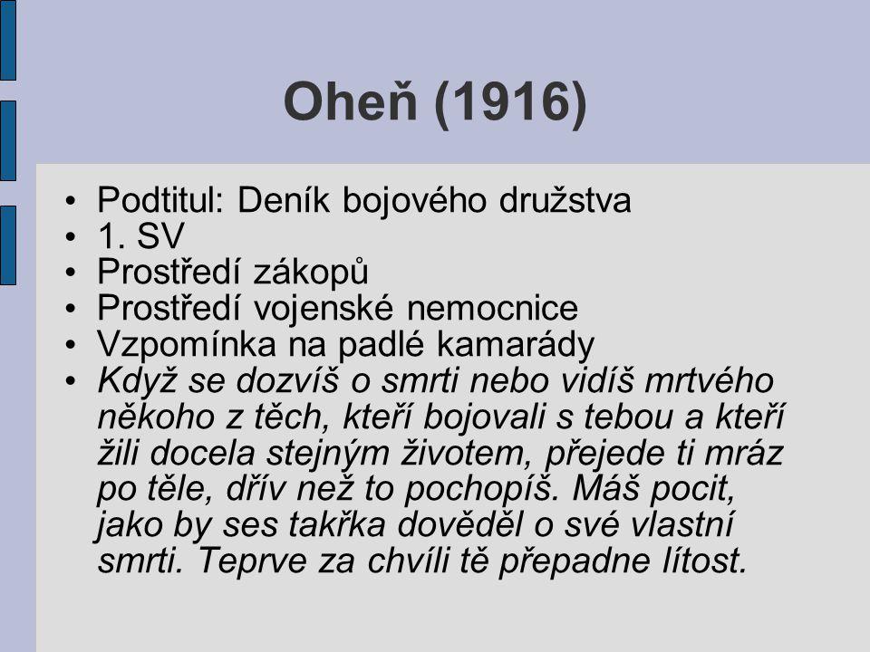 Oheň (1916) Podtitul: Deník bojového družstva 1.