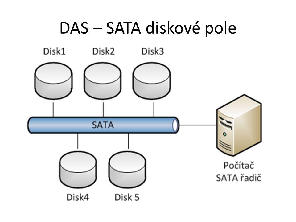 DAS – SATA diskové pole
