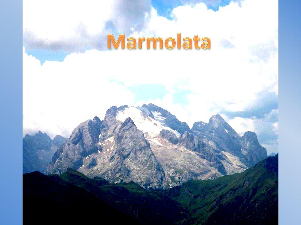 Marmolata 3343m, nejvyšší hora Dolomit
