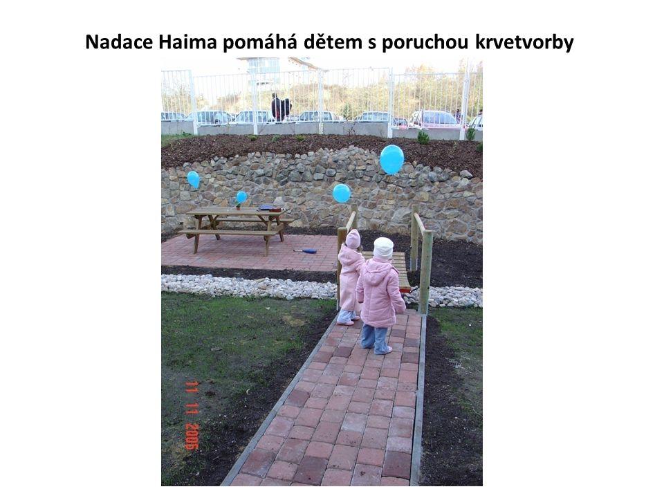 Nadace Haima pomáhá dětem s poruchou krvetvorby