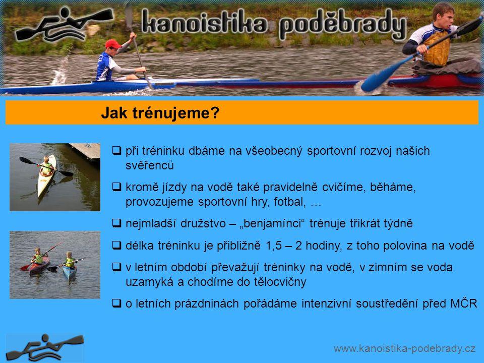 www.kanoistika-podebrady.cz Jak trénujeme.