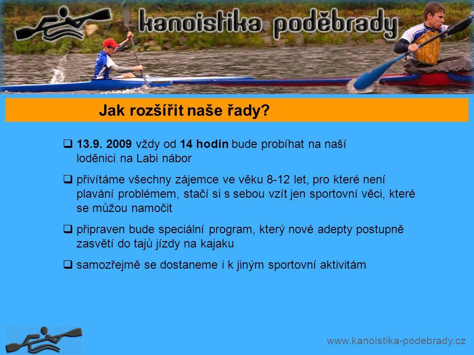 www.kanoistika-podebrady.cz Jak rozšířit naše řady.
