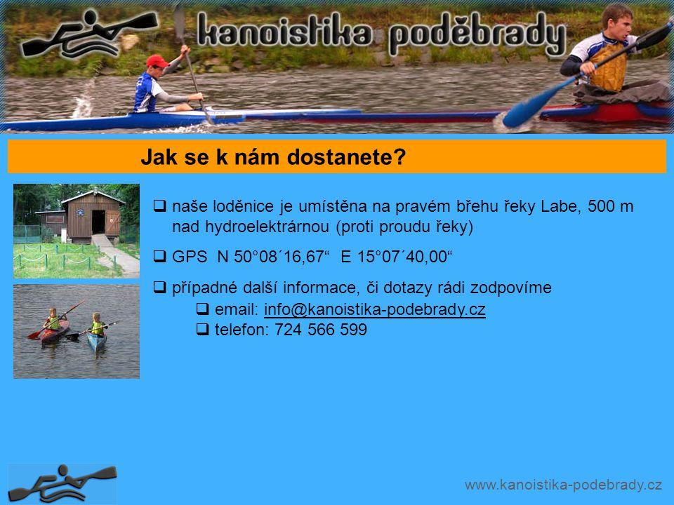 www.kanoistika-podebrady.cz Jak se k nám dostanete.