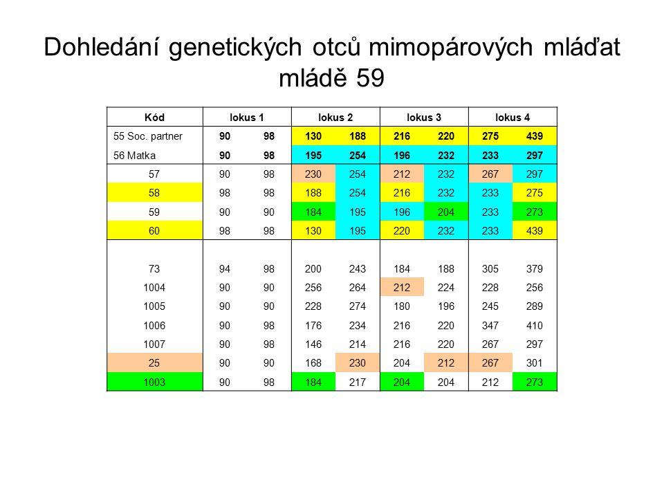 Kódlokus 1lokus 2lokus 3lokus 4 55 Soc.