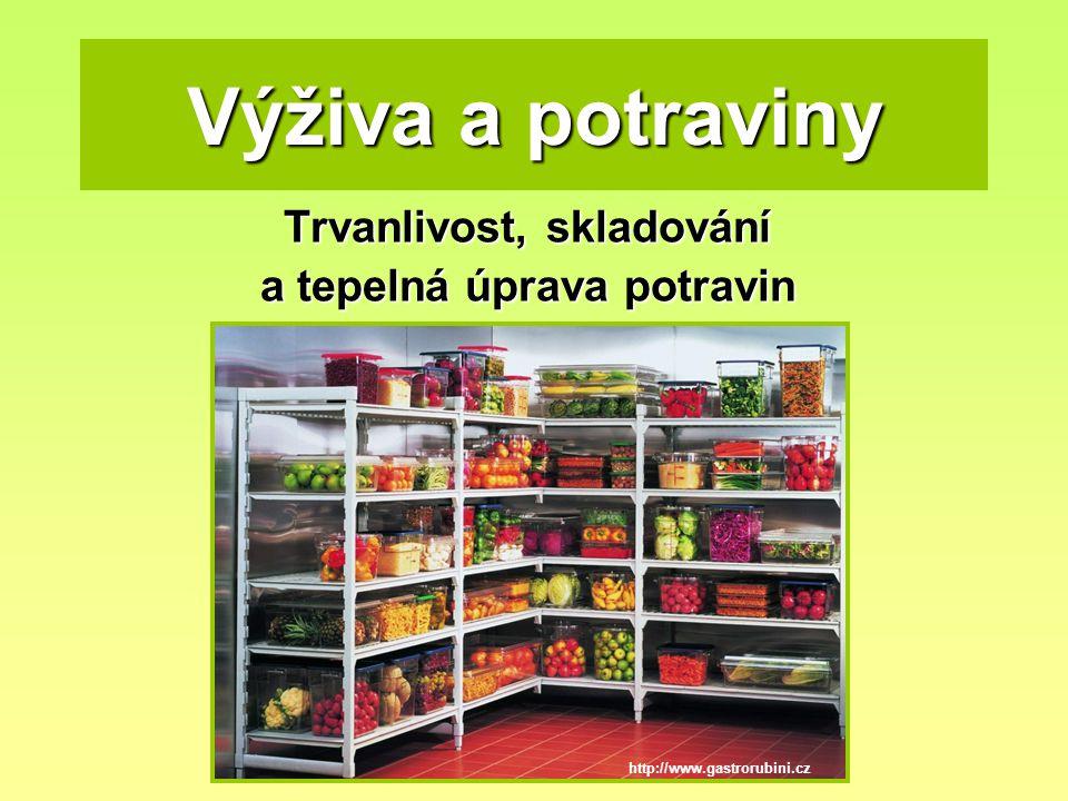 Trvanlivost potravin Existují dvě data která stanovují lhůtu použitelnosti potravin.