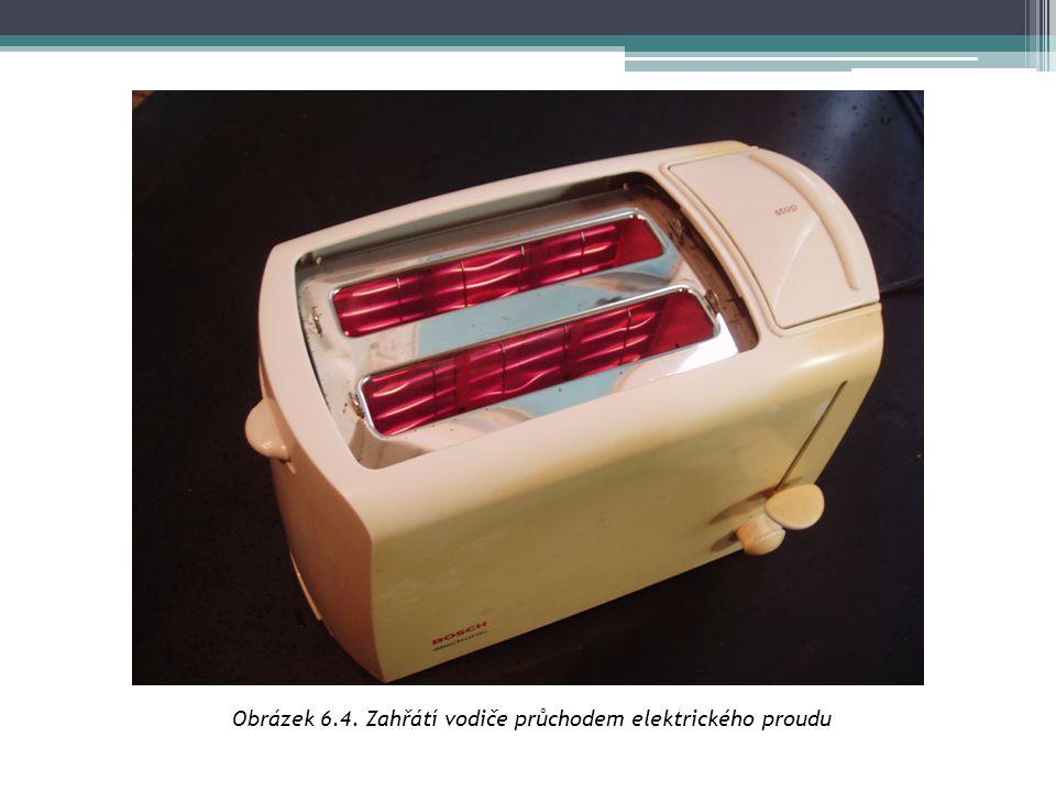 Obrázek 6.4. Zahřátí vodiče průchodem elektrického proudu
