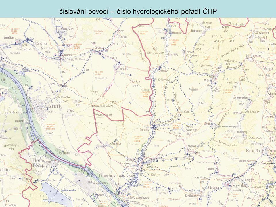 číslování povodí – číslo hydrologického pořadí ČHP