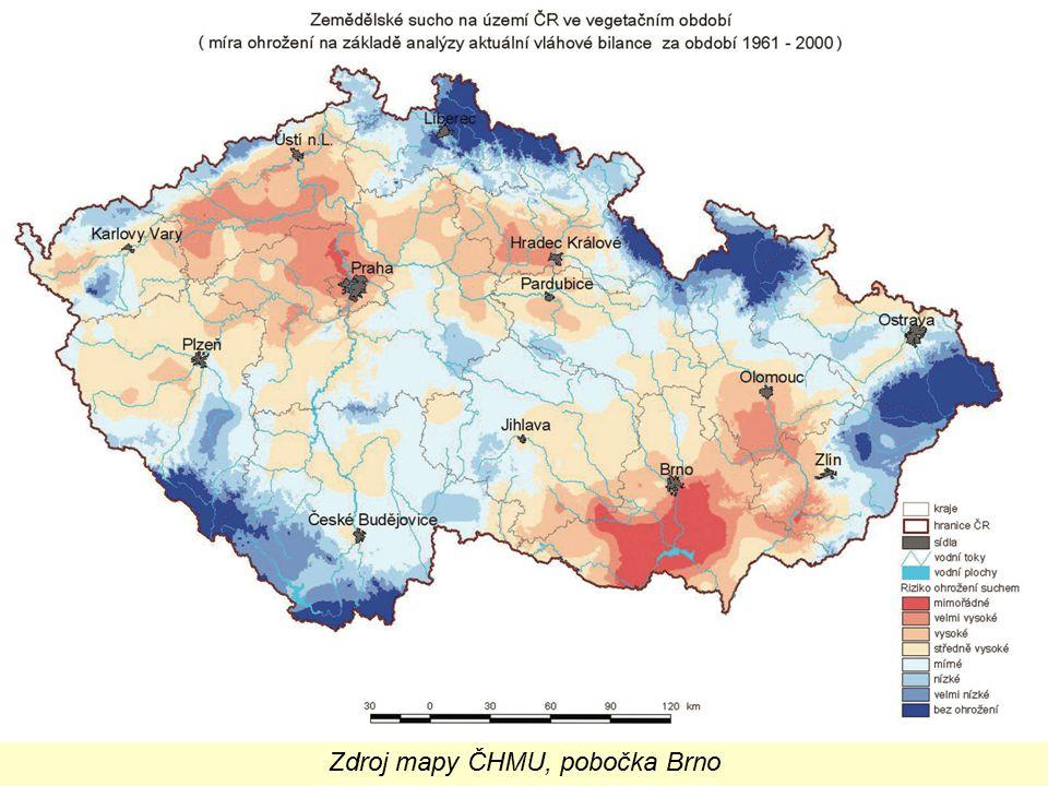 Zdroj mapy ČHMU, pobočka Brno