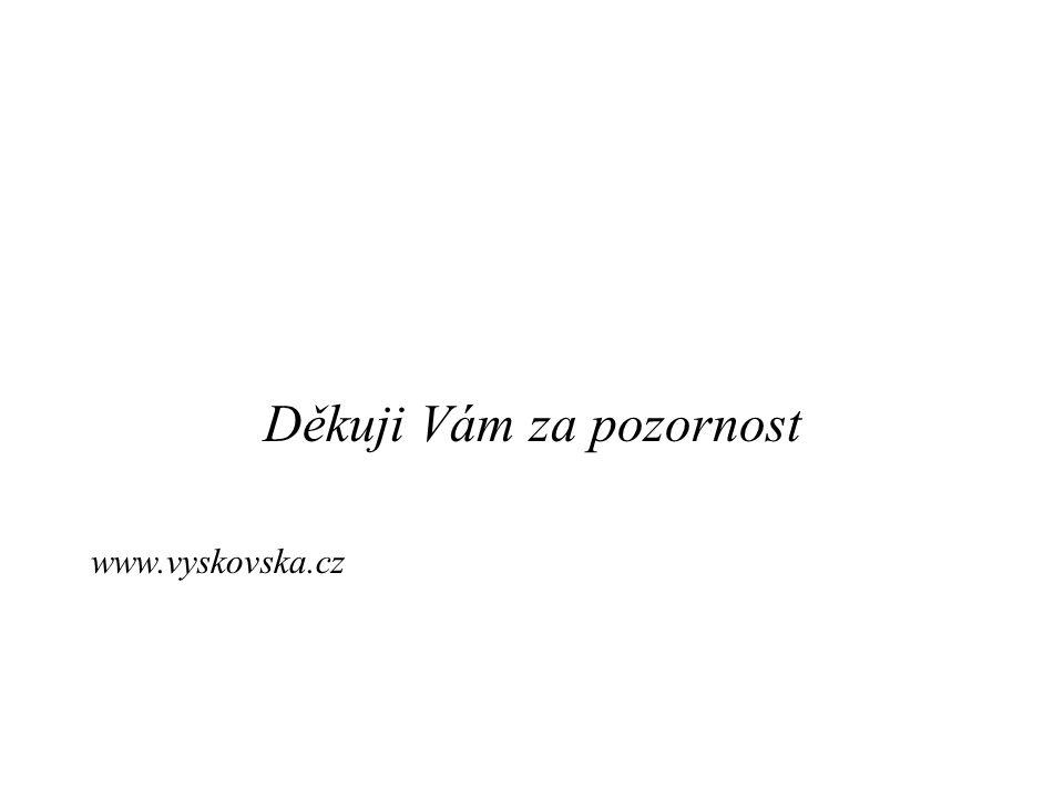 Děkuji Vám za pozornost www.vyskovska.cz