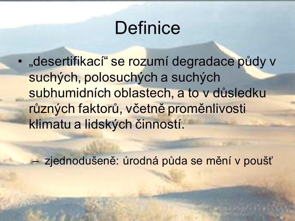 Historie Termín Desertifikace poprvé použil francouzský přírodovědec André Auberville v roce 1949.